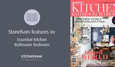 Stoneham were delighted to feature in September's Essential Kitchen Bathroom Bedroom.