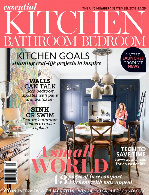 The cover of the September 2018 issue of Essential Kitchen Bathroom Bedroom.