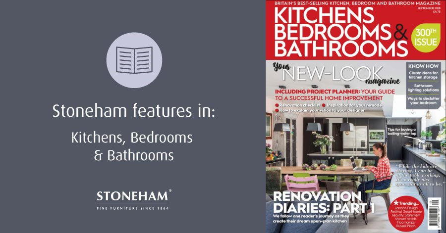 Stoneham features in Kitchens, Bedrooms & Bathrooms magazine