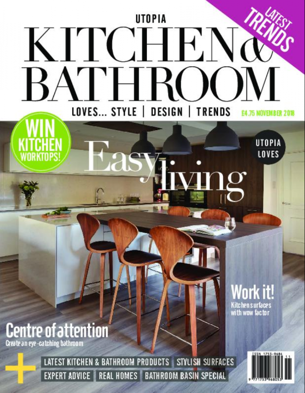This is the front cover of Utopia Kitchen and Bathroom's November 2018 issue.