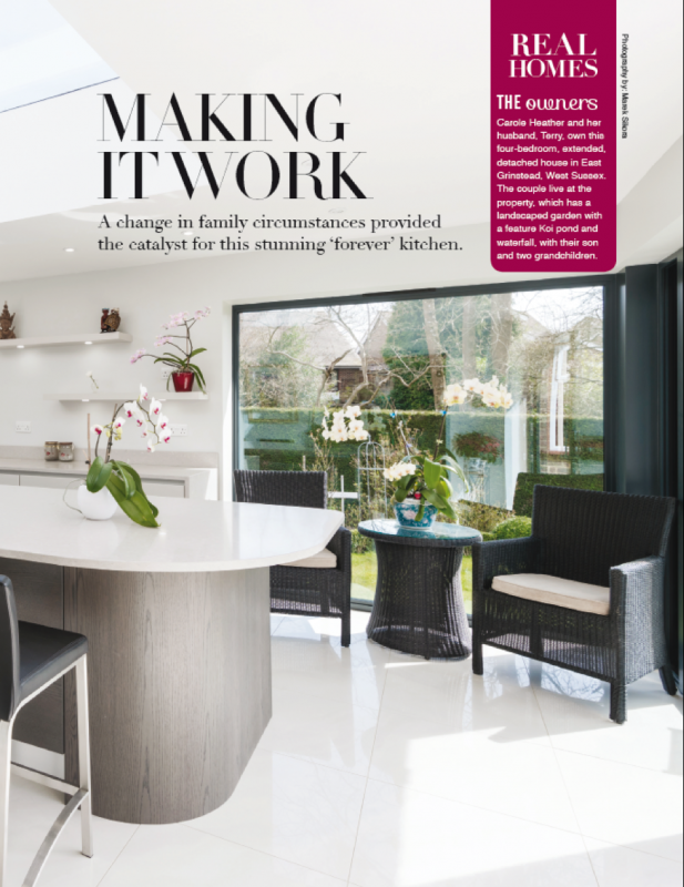 Take a look at the first page of Stoneham's feature in Utopia Kitchen and Bathroom magazine