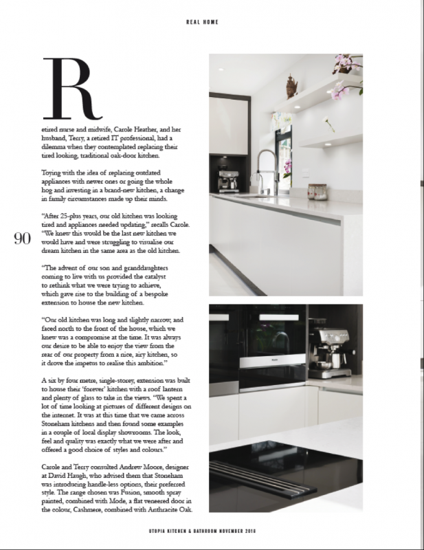 Take a look at Page 3 of Stoneham's feature in Utopia Kitchen and Bathroom magazine.