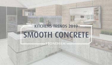 Smooth concrete kitchen