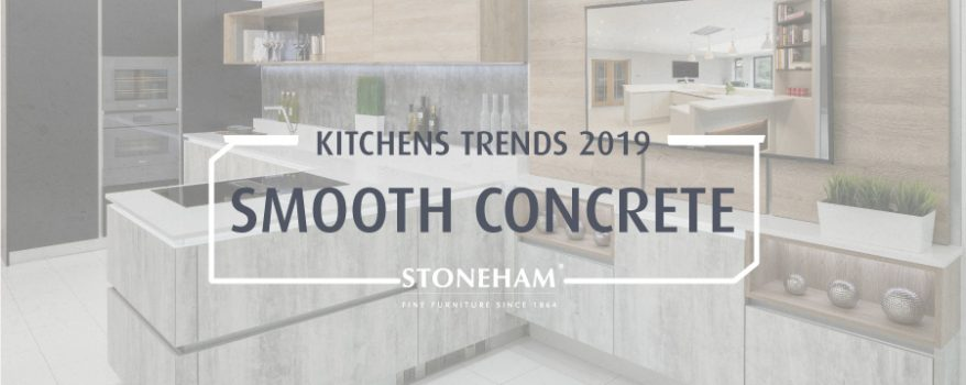 Smooth concrete kitchen