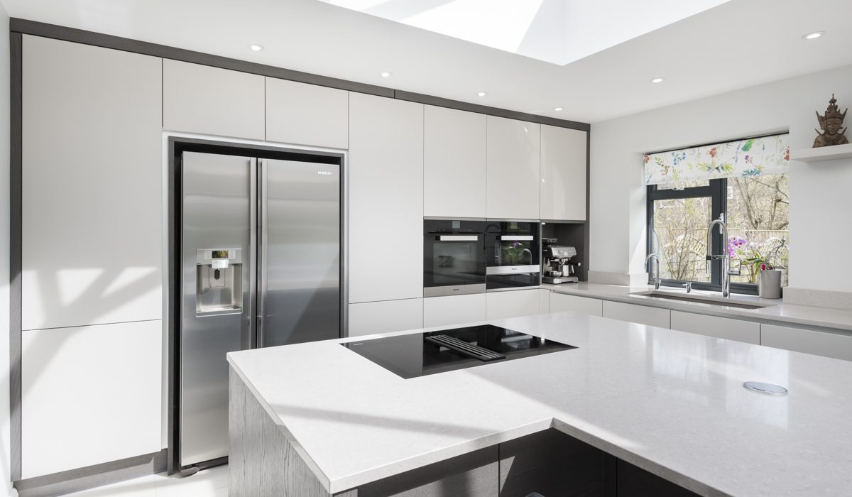 Stoneham's latest white kitchen project boasts state-of-the-art technology.