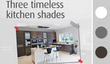 Three timeless kitchen shades