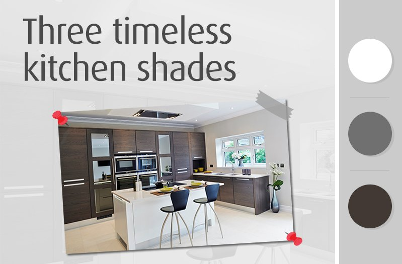 Three timeless kitchen shades