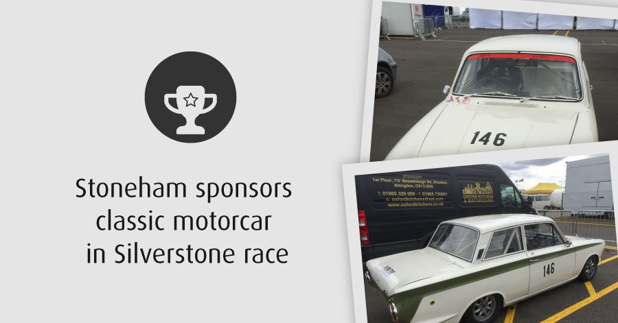 Stoneham sponsor classic car at Silverstone