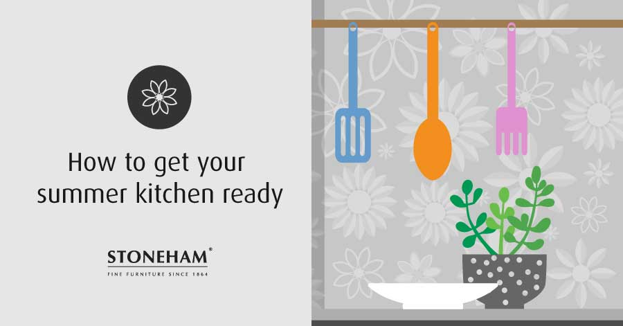 Blog graphic about how to get your summer kitchen ready