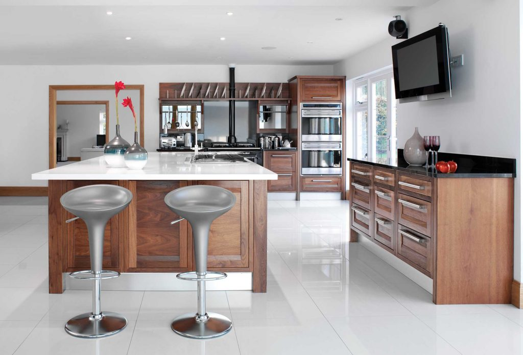 Marlborough kitchen in American black walnut