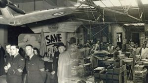 Stoneham helps produce items for the war effort