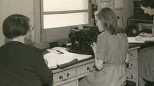 Workers at Stoneham offices in the 1950s