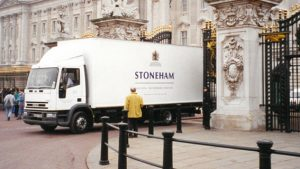 Stoneham installing at Buckingham Palace