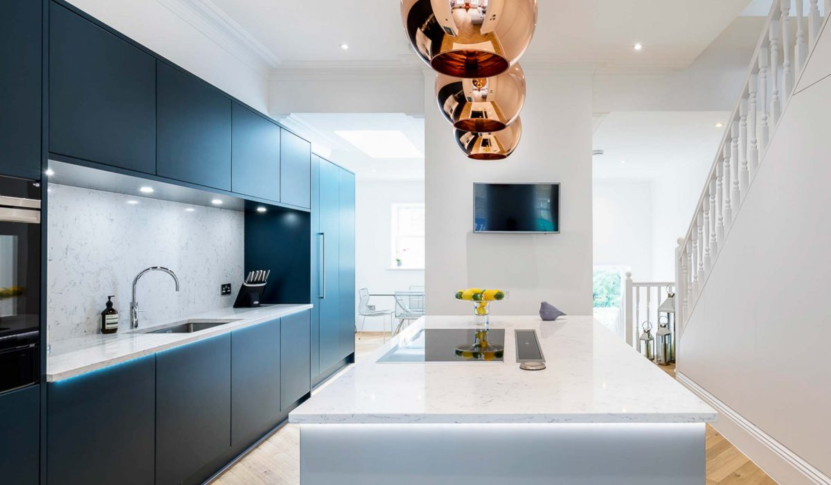 Contemporary Fusion Kitchen In West London