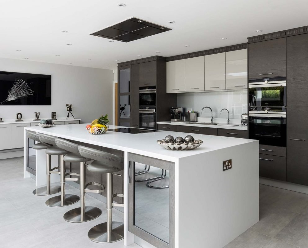Mr And Mrs Smith Kitchen modern grey kitchen with show-stopping island - stoneham