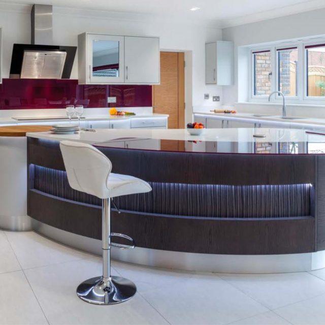 Stoneham kitchens view customer case studies for kitchen for Contemporary kitchen materials