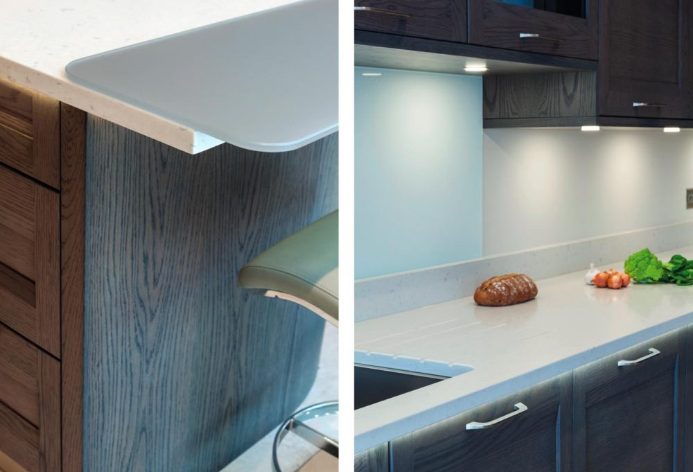 Contemporary oak kitchen with the latest technology closeups