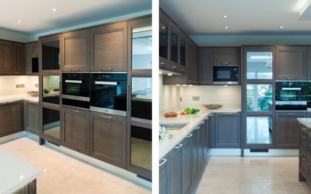 Contemporary oak kitchen with the latest cooking technology