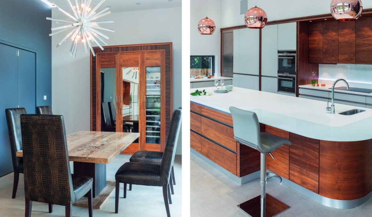 Scandi-style inspired wooden kitchen with island and dining table