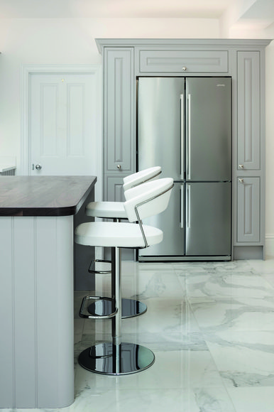 Chrome American style fridge freezer