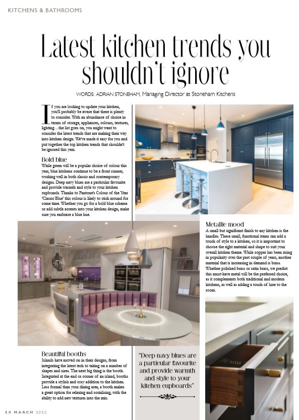 kitchen trends 2020 article