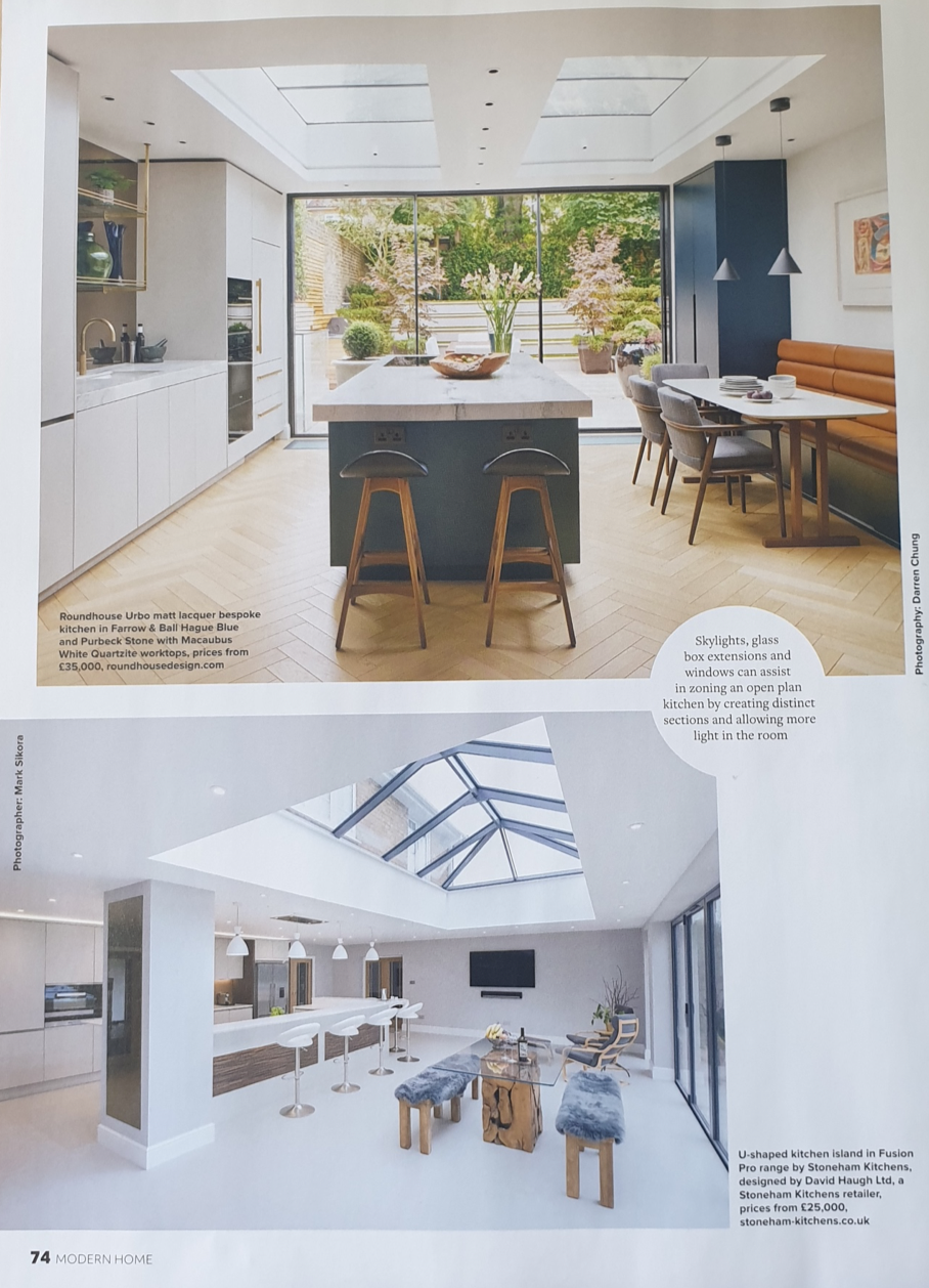 Article on kitchen diners in Modern Home magazine