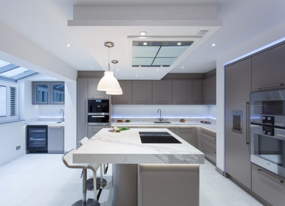 Grey kitchen from Stoneham Fusion collection