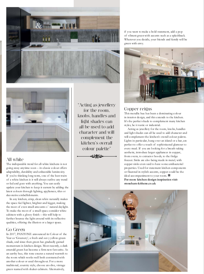 Article in Chislehurst Life Magazine on Colour in the Kitchen