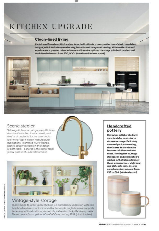 Stoneham Latitude Collection in Grand Designs Magazine