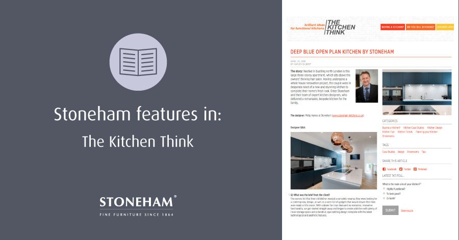 A snapshot of Stoneham's article in The Kitchen Think.