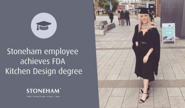 Stoneham employee dressed in her graduation gown