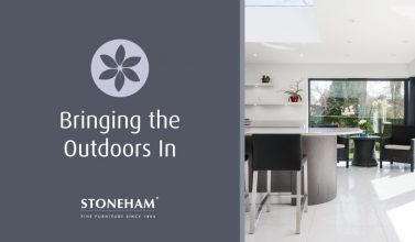 A Stoneham kitchen project which integrates the outdoors with its interiors.