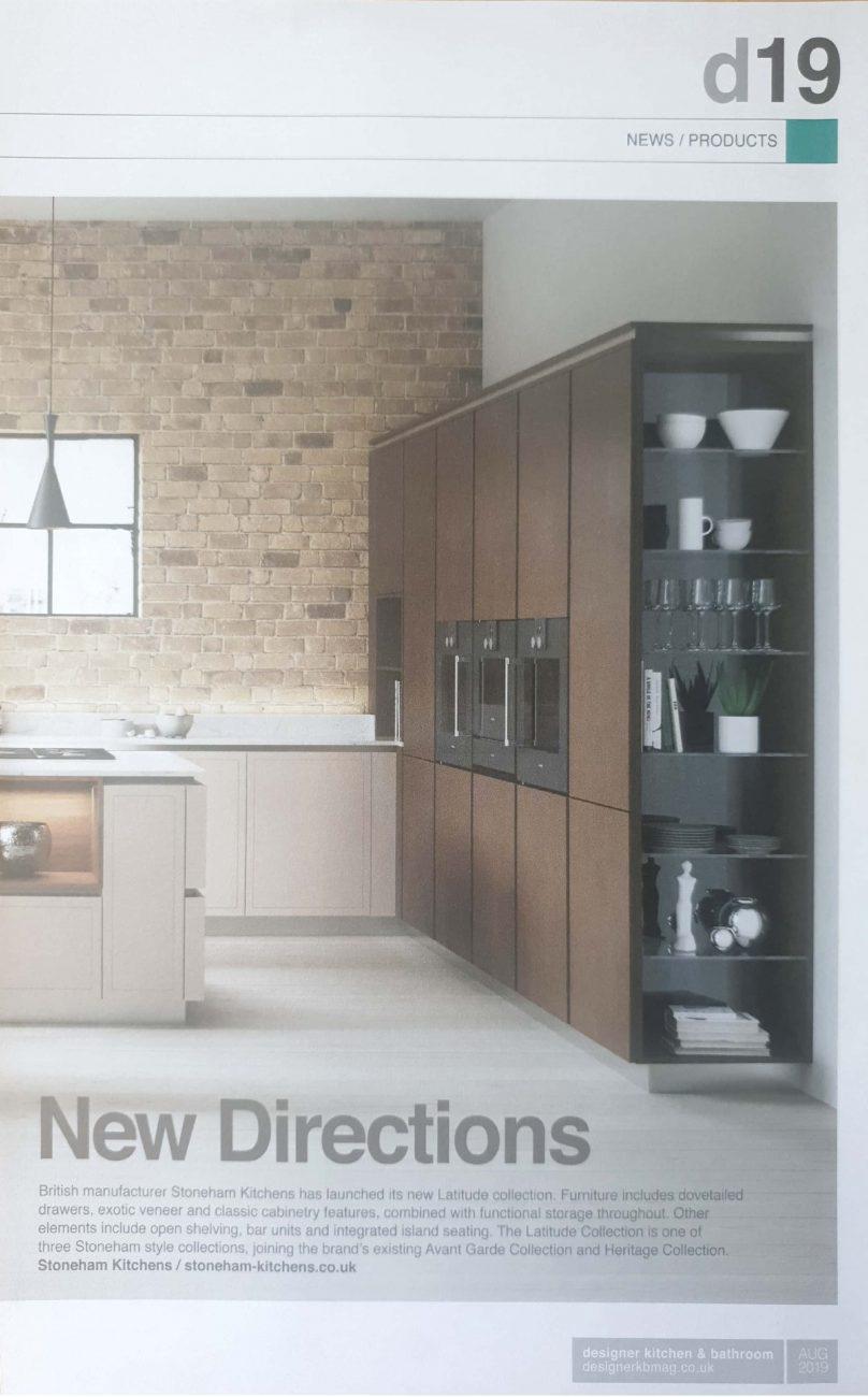 Stoneham kitchens double page feature in Designer kitchen & bathroom magazine