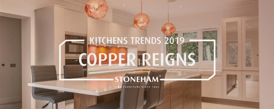 Stoneham contemporary kitchen with copper pendant lighting
