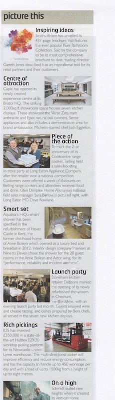 Article on Stoneham Kitchens retailer Dobsons in column called Picture This