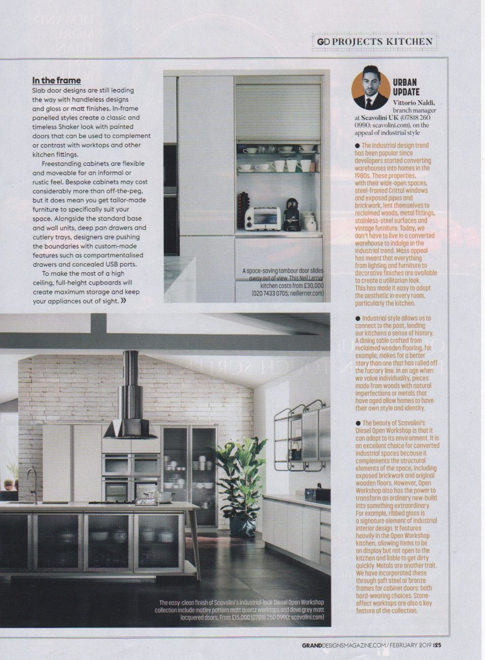 Part 3 of an article in Grand Designs magazine on design ideas for cabinets