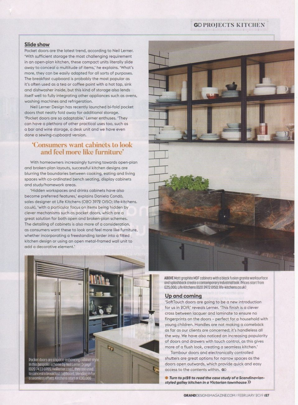 Part 4 of an article in Grand Designs magazine on design ideas for cabinets