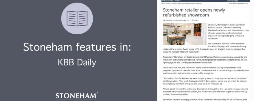 Article on stoneham retailer Dobsons in kbbdaily