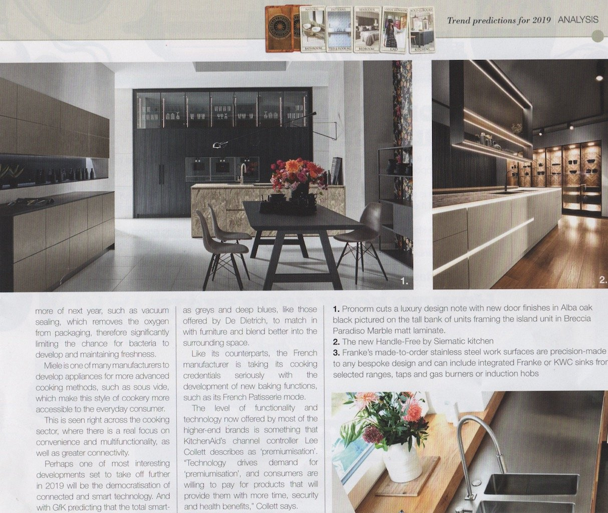 Part 4 of a kitchens trends article in kbbreview magazine