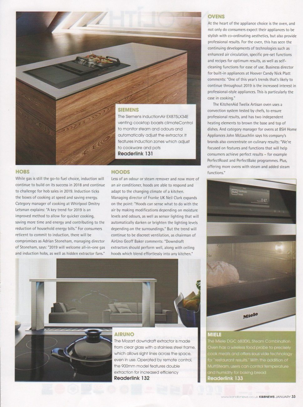 Part 3 of a kitchen trends feature in Kitchens and Bathrooms News magazine
