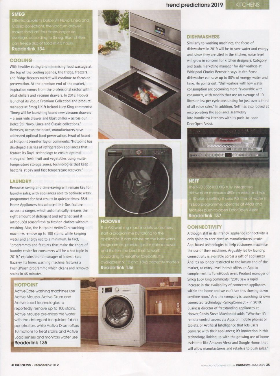 Part 4 of a kitchen trends feature in Kitchens and Bathrooms News magazine
