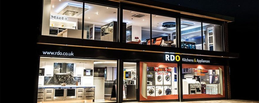 Exterior of RDO kitchen showroom in Reigate