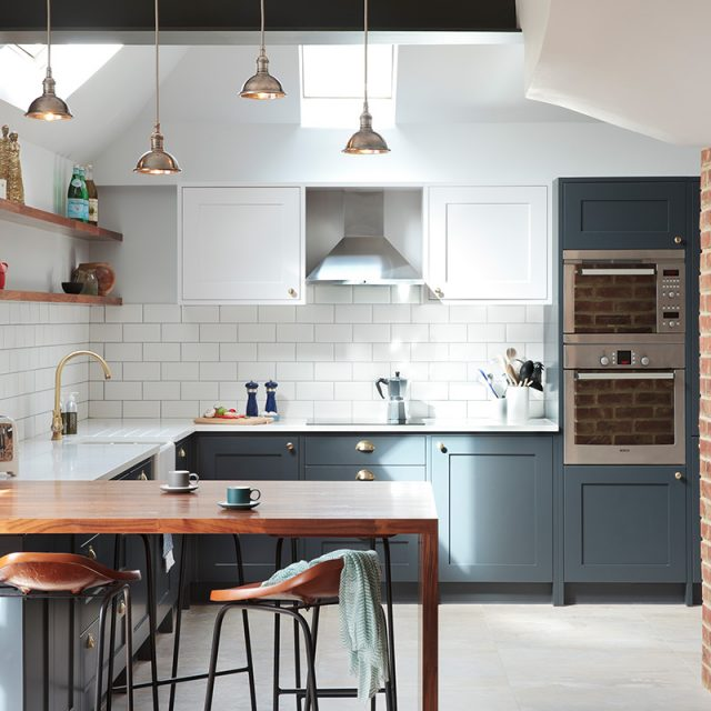Mr & Mrs Gerber's Stoneham kitchen is influenced with contemporary industrial design.